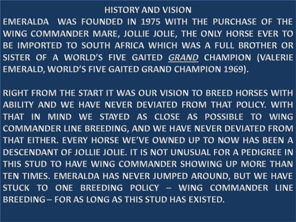 EMERALDA HISTORY 1