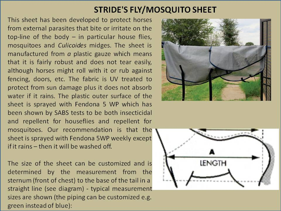 STRIDE'S FLY AND MOSQUITO SHEET